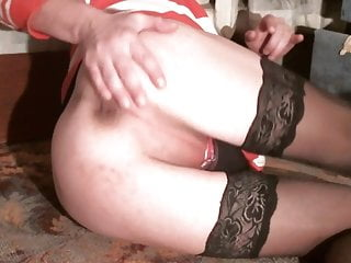 Naughty girl evelina rubbing shaved pussy...