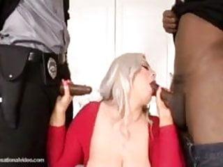 Big Booty White Slut Klaudia Kelly DP'ed By Big Black Cocks