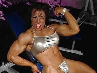 Naked muscle woman...