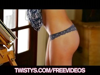 Candice Luca shows off her perfect body and rubs herself