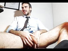 sexy daddy in a suit jerking off his big cockPorn Videos