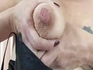 Saggy tits showing her very...