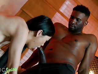 DEVIANTE - Hot Asian Alina Crystall has romantic interracial sex
