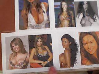 Mixed italian showgirls cum tribute...