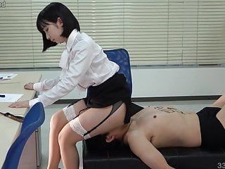 JAV Femdom Human Chair and Facesitting