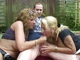 German Mature Bi Jenny and Friend Fuck Young Boy for Help