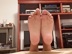 My Sexy Soft Creased Soles With Toes Pointed & Curled