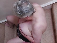 Maggy 66 yo playing with her melons