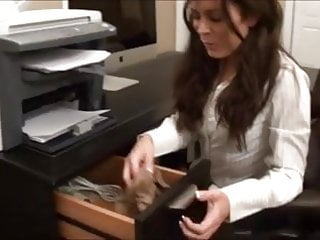 Office foot sniffing under desk