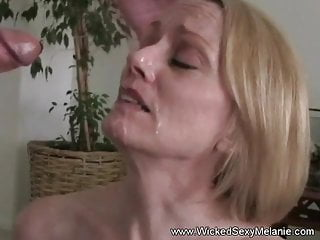 Hot Mature Blowjob And Cum Shot Facial