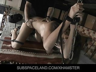 Hard spanked outside and...