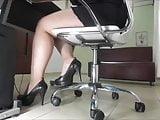 My curvy secretary at work