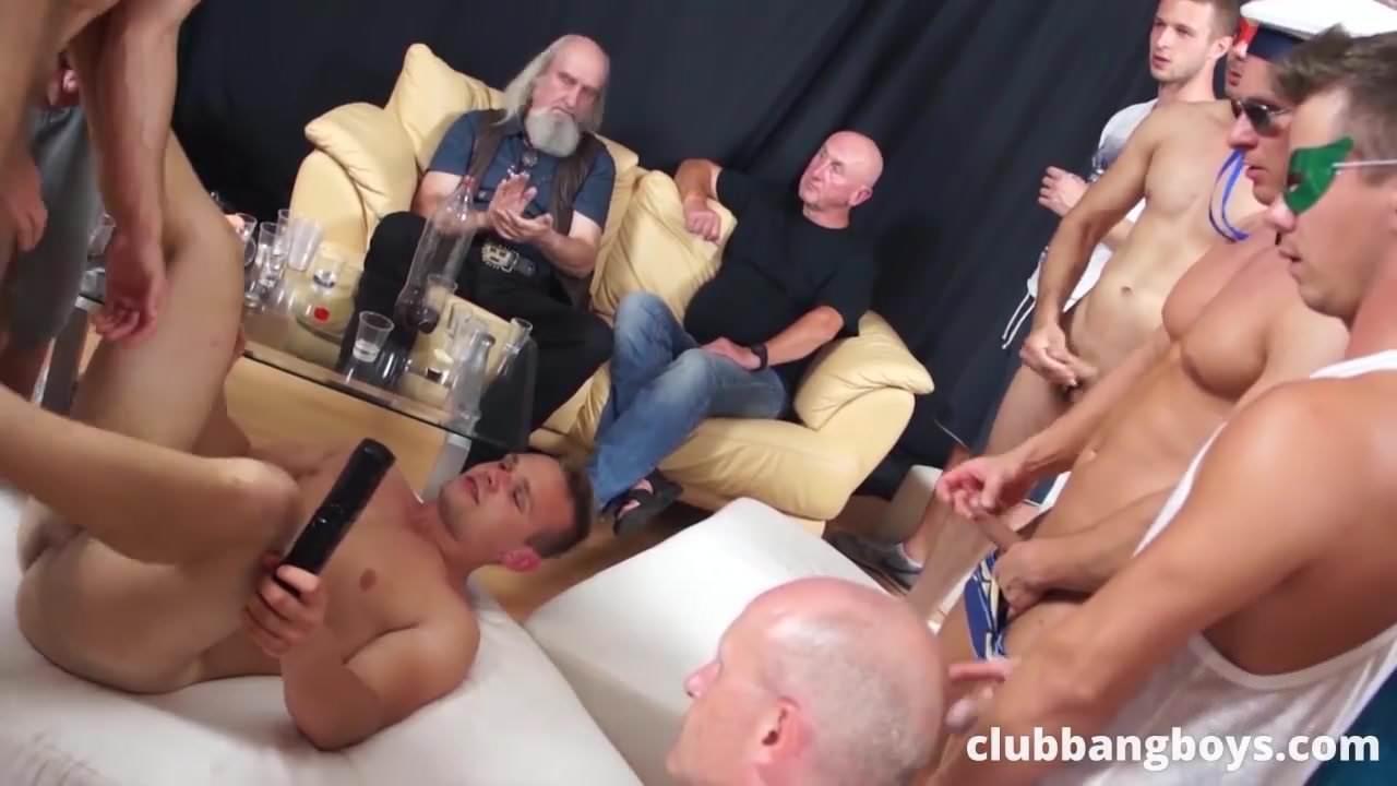 Gay scat orgy