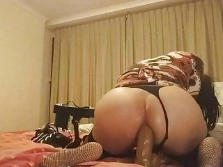 French sissy Camelia and fuck machine 2
