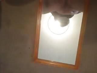 Gf fucks dildo on mirror