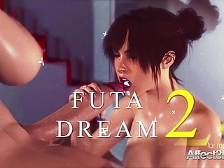 Big tits babe dreaming about a futanari with...