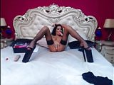 Long nails and stripper heels show