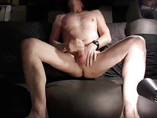 exhibitionist twink bondage jerking in my sofa with moaning