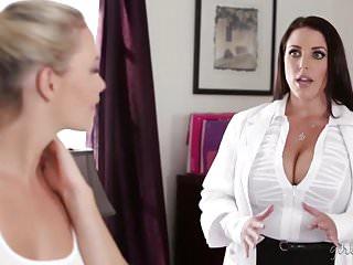 Tits seducing the lesbian worker mia malkova...