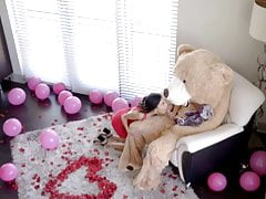 Valentine's Day surprise for stepsister