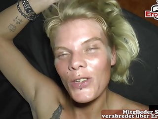Skinny german blonde mom extrem creampie gangbang party