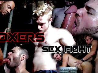 Teaser Fucking between boxers in a gay bar