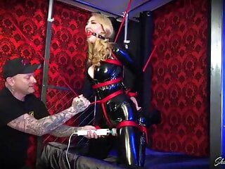 Kendra James Tied and Vibed in PVC