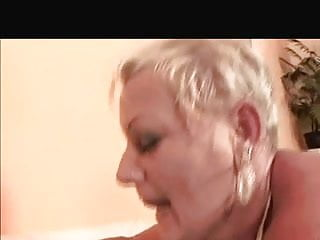 Shorthair-Blonde Granny - BBC Double Penetration
