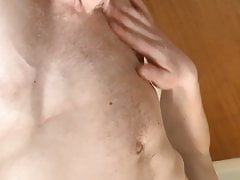 Uk British English playing with self getting hard sexy abs