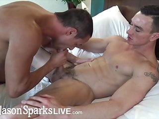 Hung stud Cade Maddox rims hot jock before bareback