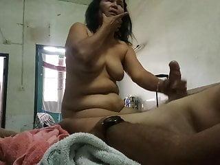 Thai granny blowjob cim...