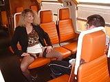 Pervert milf and virgin boy in train