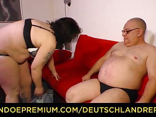 DEUTSCHLAND REPORT - Chubby mature with big tits boned