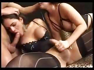 Shemale threesome...