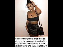 Slut cuckold ebony french wife captions