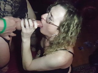 Double Dildo Deep Throat 2 Trans Girls Lisa and Gigi.