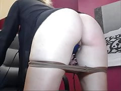 Big ass and huge boobs, blonde, footfetish and huge dildo sucking