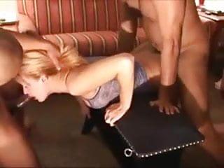 Dirty hot wifes gets a hard breeding...