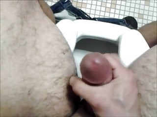 Daddy jerking off in the toilet
