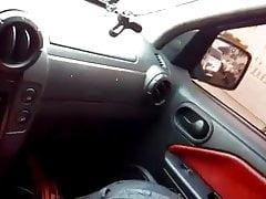 Bj in the car
