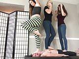 Bratty Foot Girls - Multi-Girl Trampling Compilation