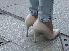 Nude Pumps Stiletto High Heels Tacchi a Spillo Talons Hautes