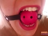 Tranny gagged and caged in the vice mini
