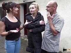 Skinny French slut Morgane assfucked again