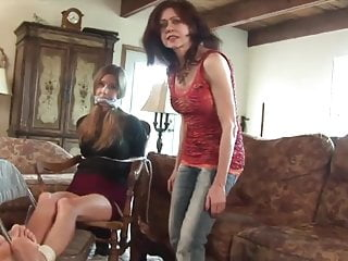 Baby Sitter Tied Up And Gagged