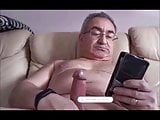 spanish grandpa wanking his cock