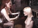 Lovely young blonde has her perfect nipples by mistress