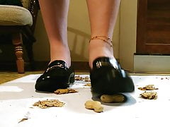Crush food in mix of shoes