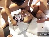 Nudy chubby women sauna
