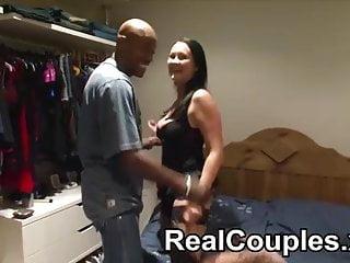 Black dude spanks then licks a smaller white girls pussy